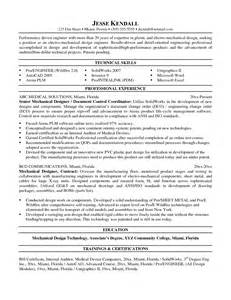 mechanical design resume sales mechanical site