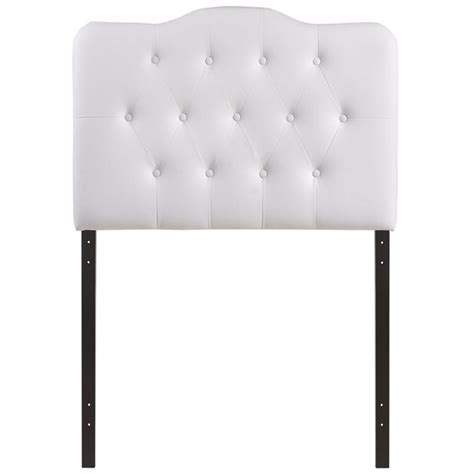 white tufted headboard twin modway annabel twin tufted panel headboard in white mod