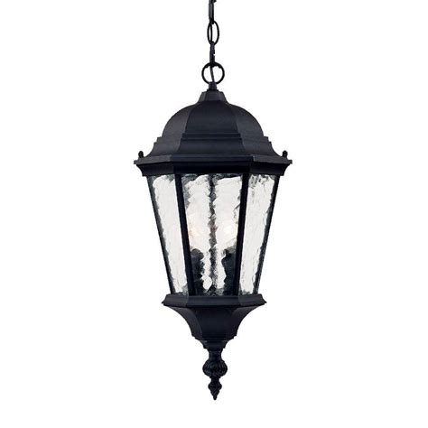 Hanging Outdoor Lighting Fixtures Acclaim Lighting Telfair Collection 2 Light Matte Black Outdoor Hanging Light Fixture 5516bk