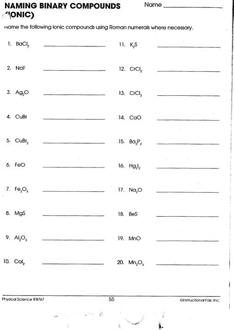 name ionic compounds worksheet virallyapp printables