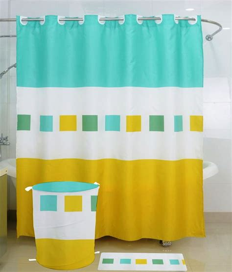 yellow and turquoise curtains skap yellow and turquoise polyester shower curtain buy