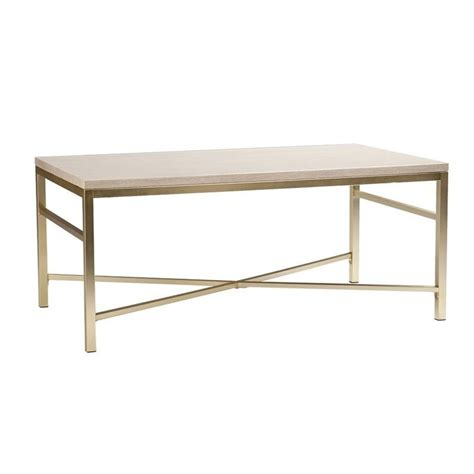 travertine coffee table southern enterprises orinda metal coffee table in