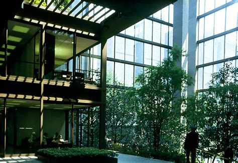 ford headquarters inside 凯文 183 洛奇 the pritzker architecture prize