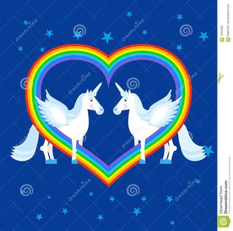 imagenes de unicornios y arcoiris unicornio y arco iris de dos azules en forma del coraz 243 n
