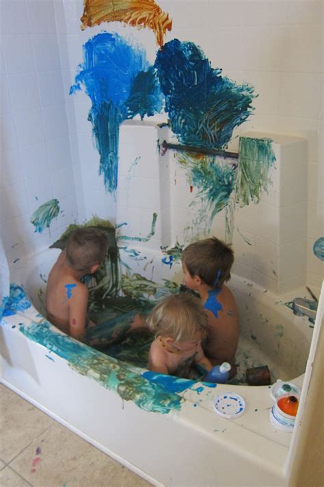 bathtub finger paint making peace with finger paint 171 breastfeed babywear clothdiaper naturally
