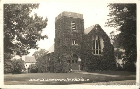 Algonac Post Office by St Andrew S Episcopal Church Algonac Mi Postcard