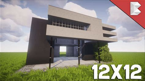minecraft house designs tutorials minecraft 12x12 modern house tutorial easy to follow minecraft house design