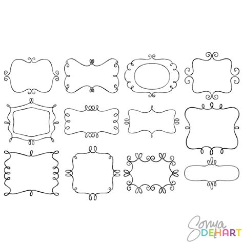 doodle frame free 17 best images about layout for on fonts