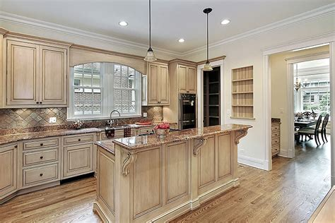 top rated kitchen cabinets traditional kitchen wheat cabinets with granite counter