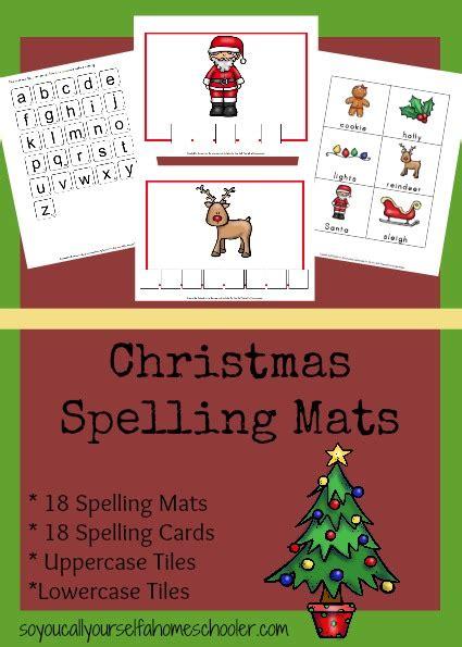 printable christmas spelling list free printable christmas spelling mats free homeschool