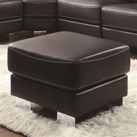 ottomans with legs ottomans with legs ottoman with chrome legs by milo