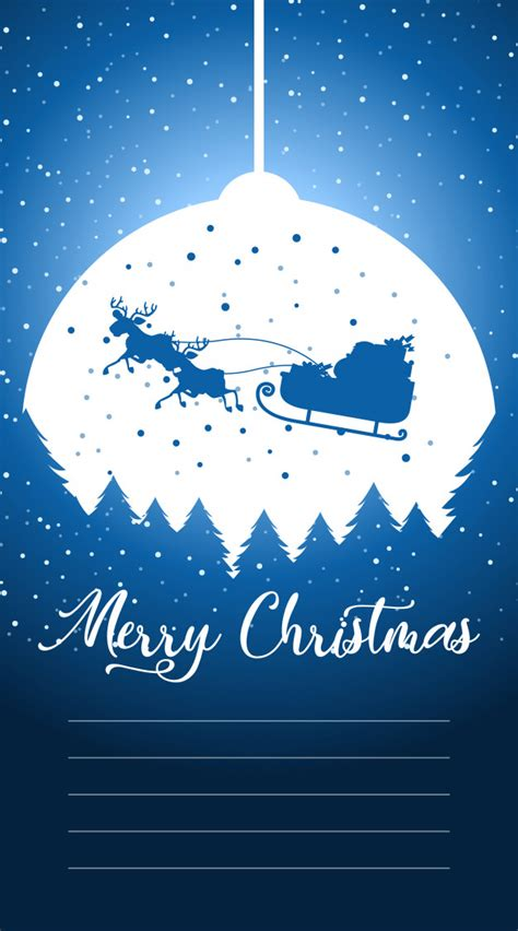 merry christmas greeting card letter santa text