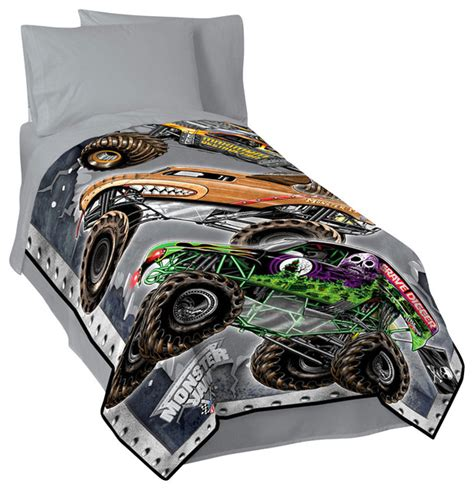 monster jam bedroom monster jam fleece blanket modern kids bedding by