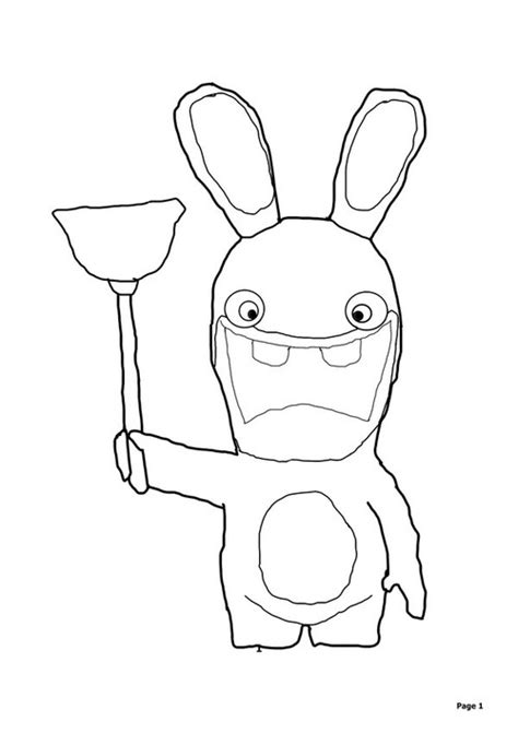 rabbids invasion coloring pages rabbid invasion free coloring pages
