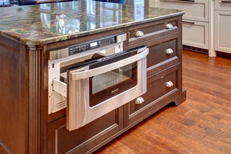 kitchen island with microwave drawer cool microwave drawer technique seattle traditional kitchen decoration ideas with island