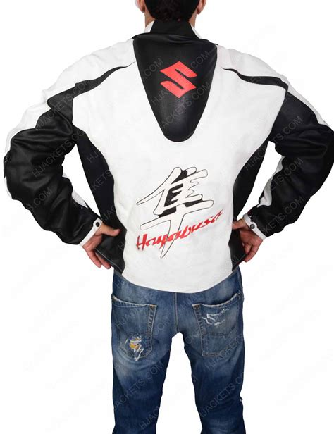 white motorbike jacket suzuki hayabusa white leather motorcycle jacket