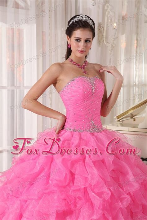 quinceanera themes for june hot pink strapless beading quinceanera dress
