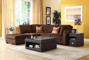homelegance burke sectional sofa set c dark brown fabric
