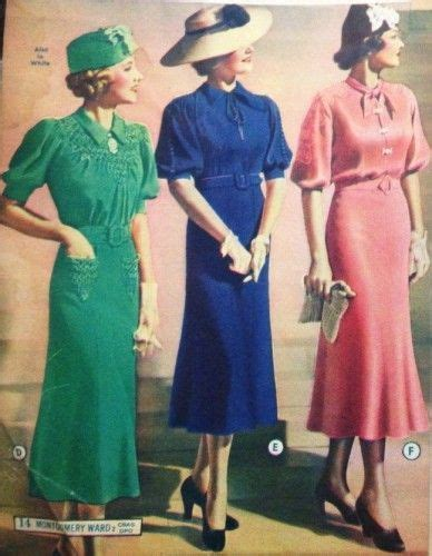 what color did what did wear in the 1930s day dresses sleeve