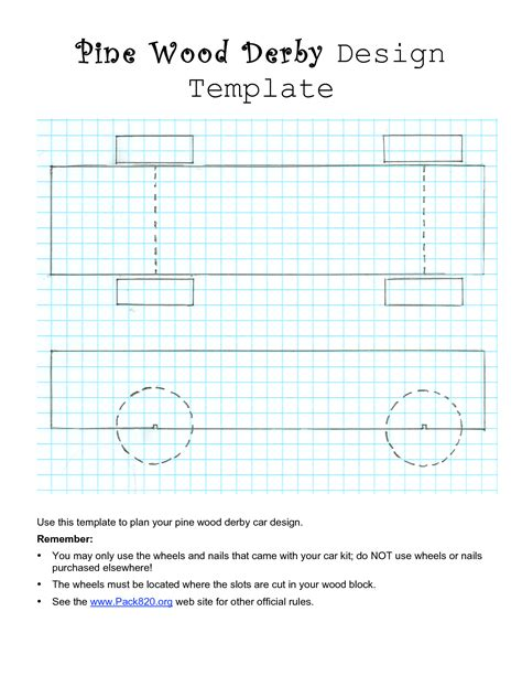 pinewood derby templates pdf best photos of free templates to print pinewood derby car