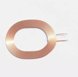 what is thin inductor copper wire wireless charger coil thin flat spiral air coil for charger pcba for sale