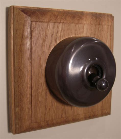reproduction bakelite light switches square single oak pattress with intermediate dolly switch