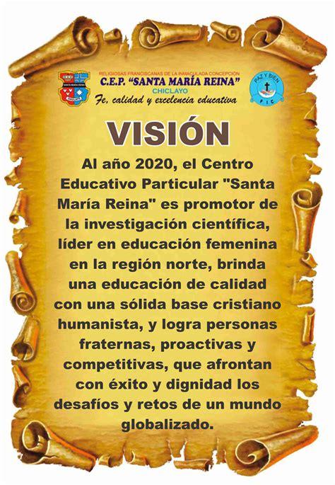 vision mision  valores colegio santa maria reina