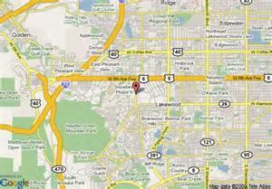 center colorado map map of hton inn denver west federal center lakewood