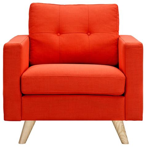 orange armchairs shop houzz nyekoncept retro orange armchair armchairs