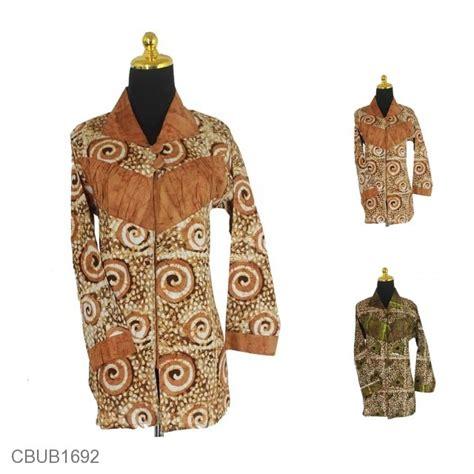 Blus Lengan Panjang blus batik panjang motif ketapang kotemporer blus lengan