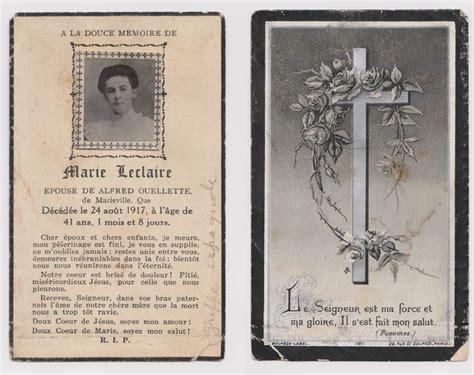 ouellette   sepultures marie leclair