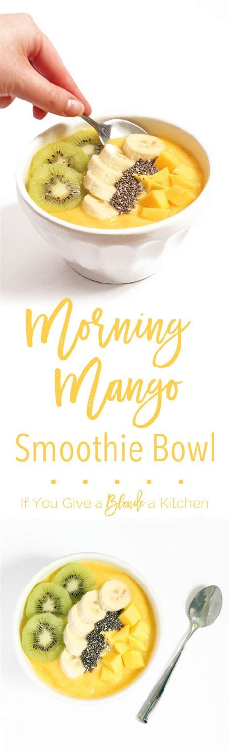 Mango Smoothie Recipe For Detox by Pineapple Mango Smoothie Bowl Recipe Detox