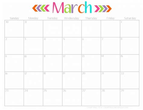 printable calendar april 2016 march 2017 free cute printable calendar march 2016 calendar