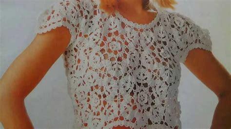 blusa rosada tejida con motivos a crochet paso a paso tejidos milagros ena como hacer blusa tejida a crochet con encaje de brujas