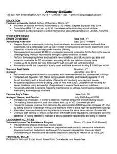 Accounting Associate Sle Resume by Sle Resume Accounting Associate Resumes Design