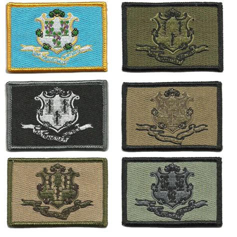 state tactical patches 2x3 connecticut state tactical patches