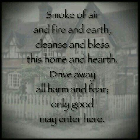 House Cleansing With by A Blessing Wiccan Charms And Spells