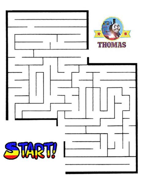 Printable Games For Students | printable thomas tank maze game online for kids train