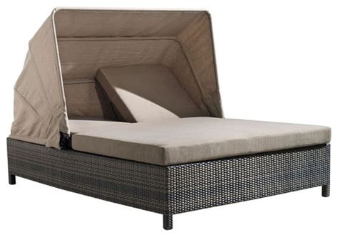double outdoor chaise zuo home patio siesta key double chaise lounge espresso