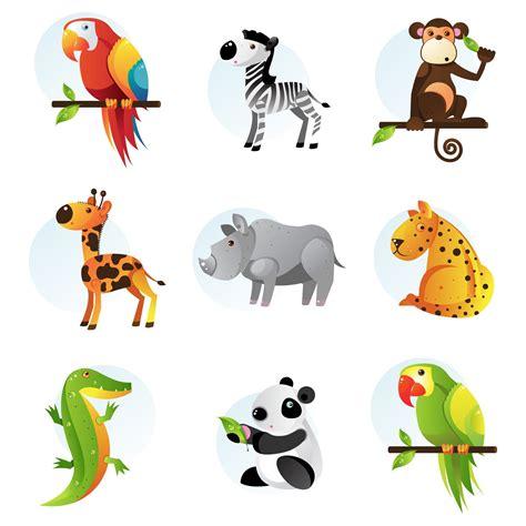 imagenes de animales animados 9 ilustraciones de animales de la selva tucan cebra chango