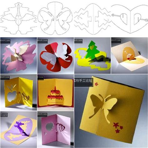diy 3d birthday card template wonderful diy 3d kirigami cards with 18 templates