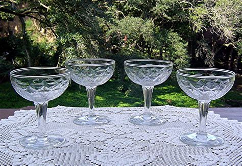 vintage cocktail glasses vintage pattern chagne cocktail glass from the