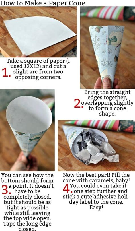 How To Make Handmade Paper Ls - licorice caramels and a simple paper cone