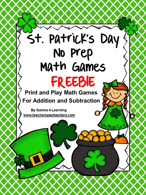 st s day printable and activities for 4 learning st s day math freebies
