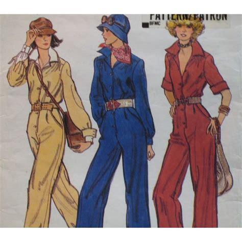 jumpsuit patterns for ladies vintage womens jumpsuit pattern 1970s shirt waist