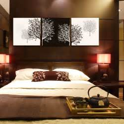bedroom canvas art 3 panel black and white cuadros tree of life prints