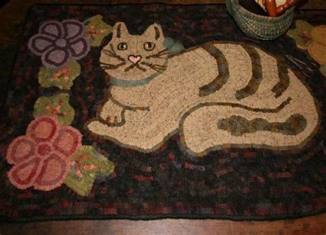 cats on rugs 276 best rug hooking cats images on rug hooking cat rug and punch needle