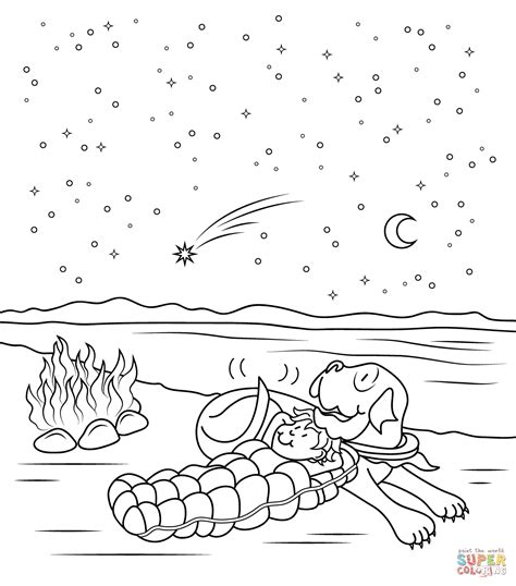 goodnight gorilla coloring page click the henry and mudge starry night coloring pages