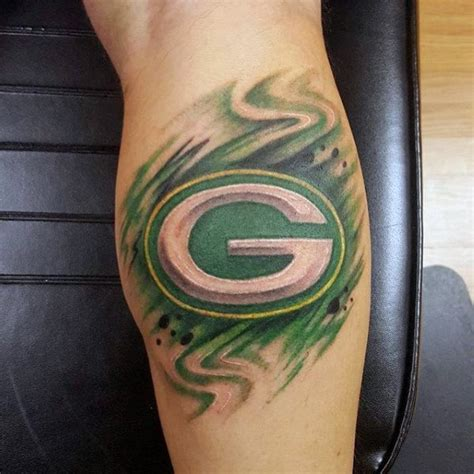 green bay packers tattoo 20 green bay packers tattoos for nfl ink ideas