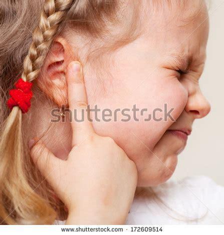 sore ear child earache stock photos images pictures